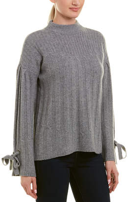 Design History Tie-Sleeve Cashmere Sweater