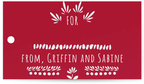 Birds And Flowers Gift Tags