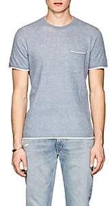 Rag & Bone Men's Tripp Double-Layer T-Shirt - Lt. Blue