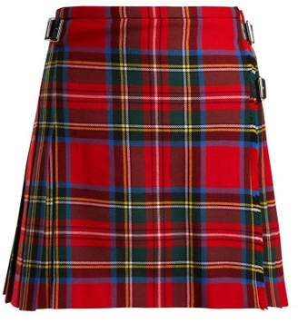 Christopher Kane Tartan Wool Mini Skirt - Womens - Red Multi