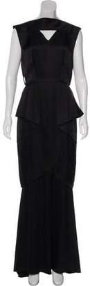 Chanel Satin Maxi Dress