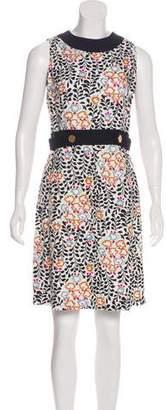Tory Burch Linen Knee-Length Sleeveless Dress