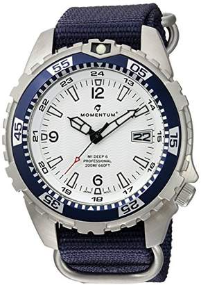 Momentum Men's Quartz Stainless Steel and Nylon Watch
