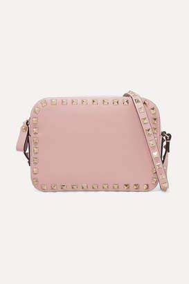 Valentino Garavani The Rockstud Leather Shoulder Bag - Pink