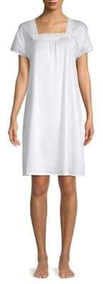 Hanro Hazel Short-Sleeve Gown