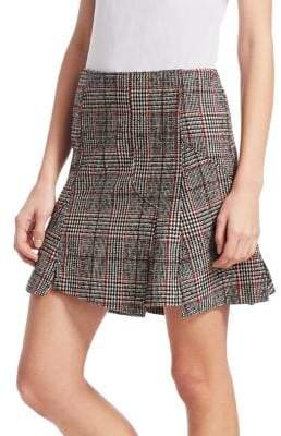 McQ Glen Plaid Mini Skirt