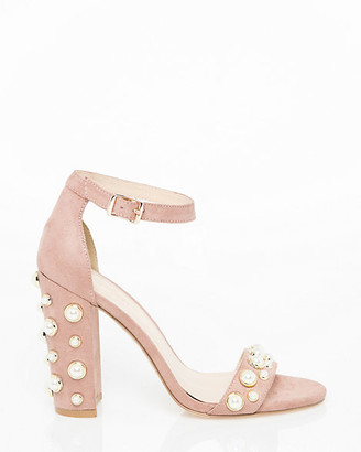 Le Château Pearl Embellished Ankle Strap Sandal