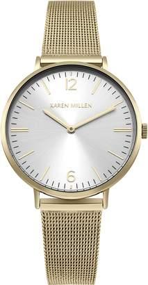 Karen Millen Women's Quartz and Stainless Steel Casual Watch, Color:Gold-Toned (Model: KM163GM)