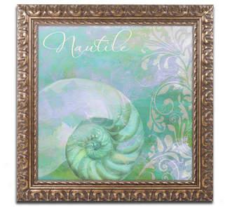 Trademark Global Color Bakery 'Painted Sea I' Ornate Framed Art