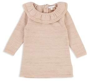 Chloé Girls' Ruffle Collar Metallic Thread Knit Dress - Baby