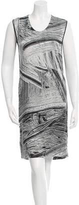 Helmut Lang Printed Silk Dress w/ Tags