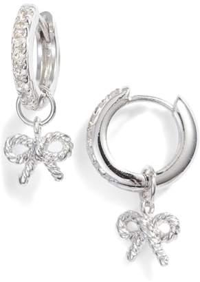 Olivia Burton Vintage Bow Huggie Hoop Earrings