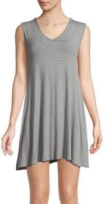 Elan International Sleeveless Striped Dress