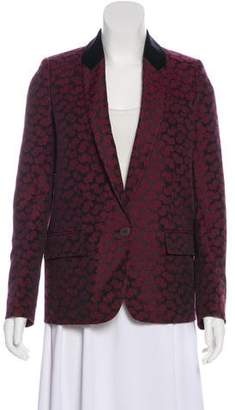 Stella McCartney Jacquard Collarless Jacket
