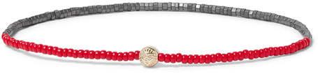 Luis Morais Glass and Gold Bead Bracelet