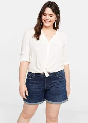 MANGO Violeta BY Dark denim shorts dark blue - 10 - Plus sizes