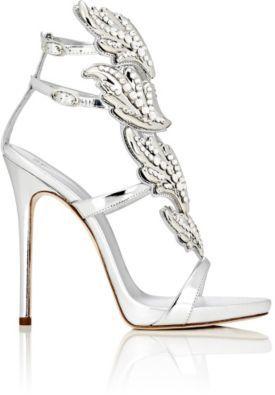"Giuseppe Zanotti Women's Crystal-Embellished ""Cruel"" Sandals-RED, PURPLE, SILVER $2,125 thestylecure.com"