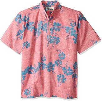 Reyn Spooner Men's 50th State Flower Kloth Classic Fit Pullover Shirt