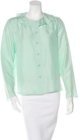 Chanel Silk Long Sleeve Blouse