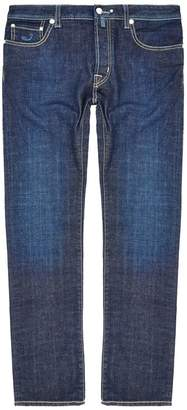 Jacob Cohen Stretch Mid Wash Tailored Jeans