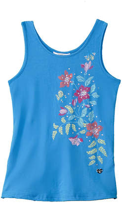 Bebe Girls' Chiffon Back Tank