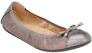Geox Leather Flats with Bow Detail - Lola