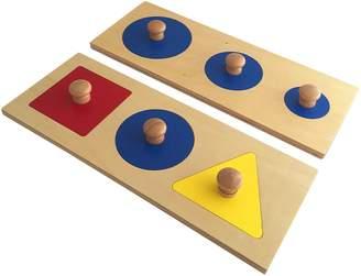 Montessori Geometric Puzzle Board (Set of 2)