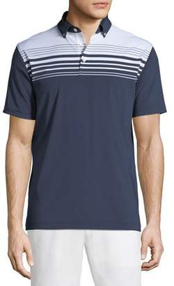 Peter Millar Men's Engineer-Striped Stretch Jersey Polo Shirt
