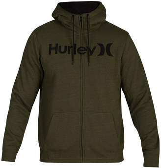 Hurley Men Bayside Sherpa-Lined Zip-Front Hoodie