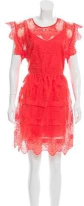 Marissa Webb Silk Embroidered Dress