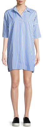 Kule The Izzy Striped Cotton Shirt Dress