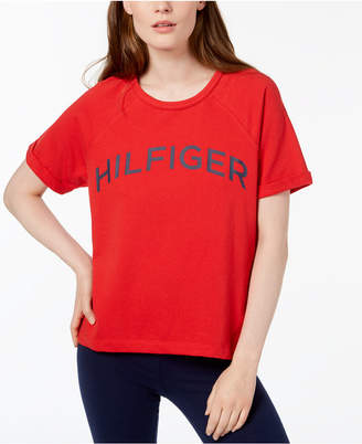 Tommy Hilfiger Logo High-Low T-Shirt, Created for Macy's