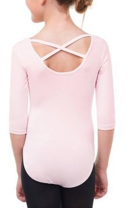 Danskin Girls' 3/4 Sleeve Premium Dance Leotard
