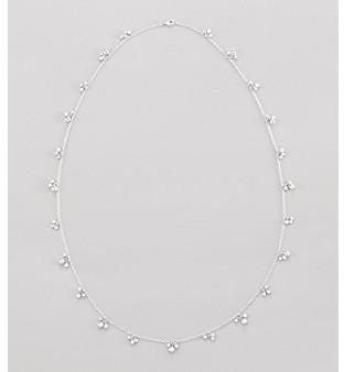 """Relativity 36"""" Silvertone Shaky Beaded Strand Necklace"""