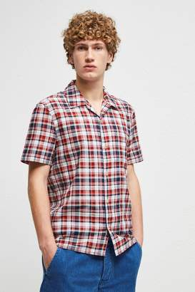 French Connenction Overwashed Lawn Check Shirt