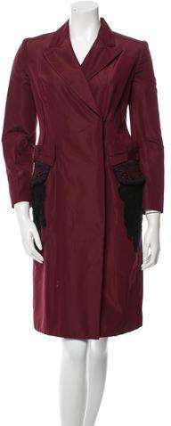 pradaPrada Silk-Blend Knee-Length Coat
