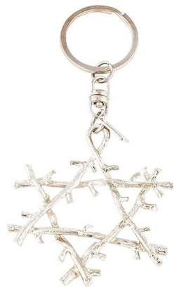 Michael Aram Sterling Silver Star Keychain