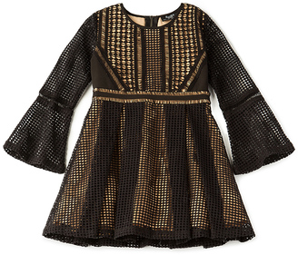 Bardot Junior Paneled Grid Dress $120 thestylecure.com