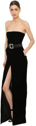 Alexandre Vauthier Velvet Strapelss Dress