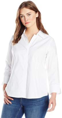Foxcroft Women's Plus-Size Taylor Essential Blouse