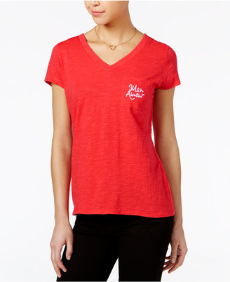 Maison Jules Oh La La Embroidered T-Shirt, Created for Macy's $29.50 thestylecure.com