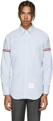 Thom Browne Blue Armbands Shirt $410 thestylecure.com
