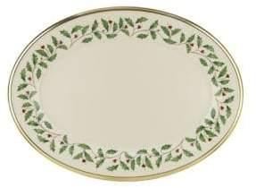Lenox Holiday Bone China Oval Platter