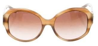 Tory Burch Logo Round Sunglasses