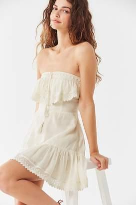 Urban Outfitters Ruffle Halter Mini Dress