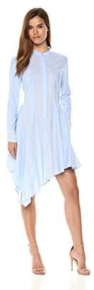 BCBGMAXAZRIA Azria Women's Rayanne Asymmetrical Shirt Dress