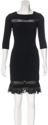Alaia Rib Knit Sheath Dress