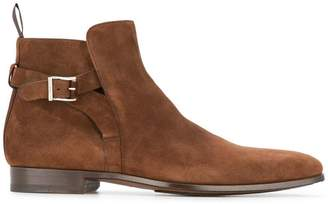Magnanni side buckle boots