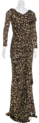 Givenchy Floral Print Evening Dress