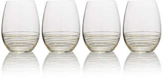 Mikasa Gold Set of 4 Stemless Wine Glasses